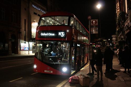 Abellio London LT611 on Route N3, Trafalgar Square