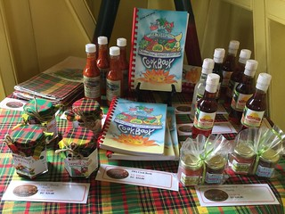 An assortment of locally curated spices and preserves