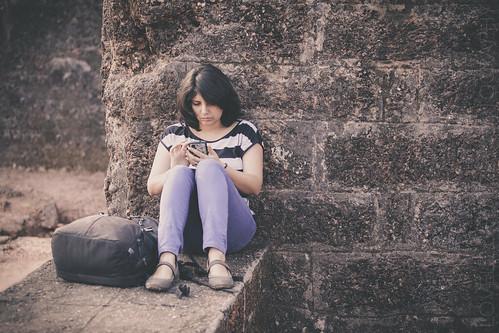 Priya at the St. Augustine's Tower
