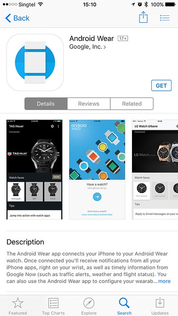 Android Wear iOS - App Store