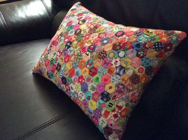 Half inch hexie pillow