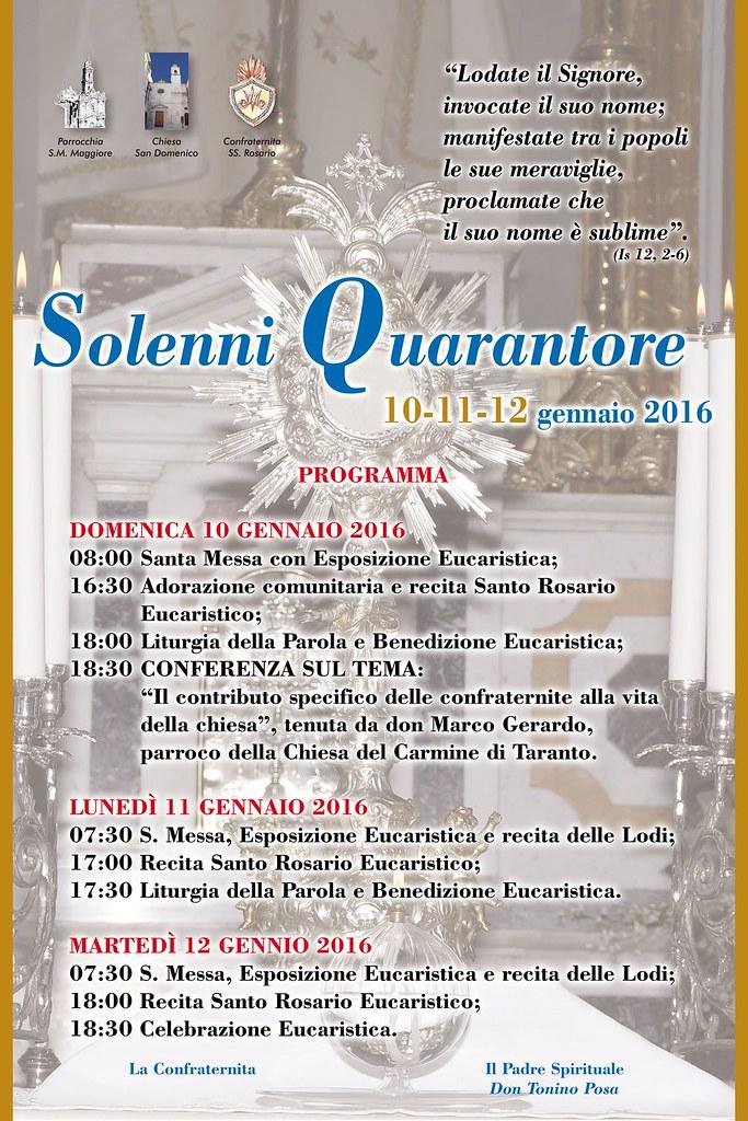 Locandina Quarantore 2016