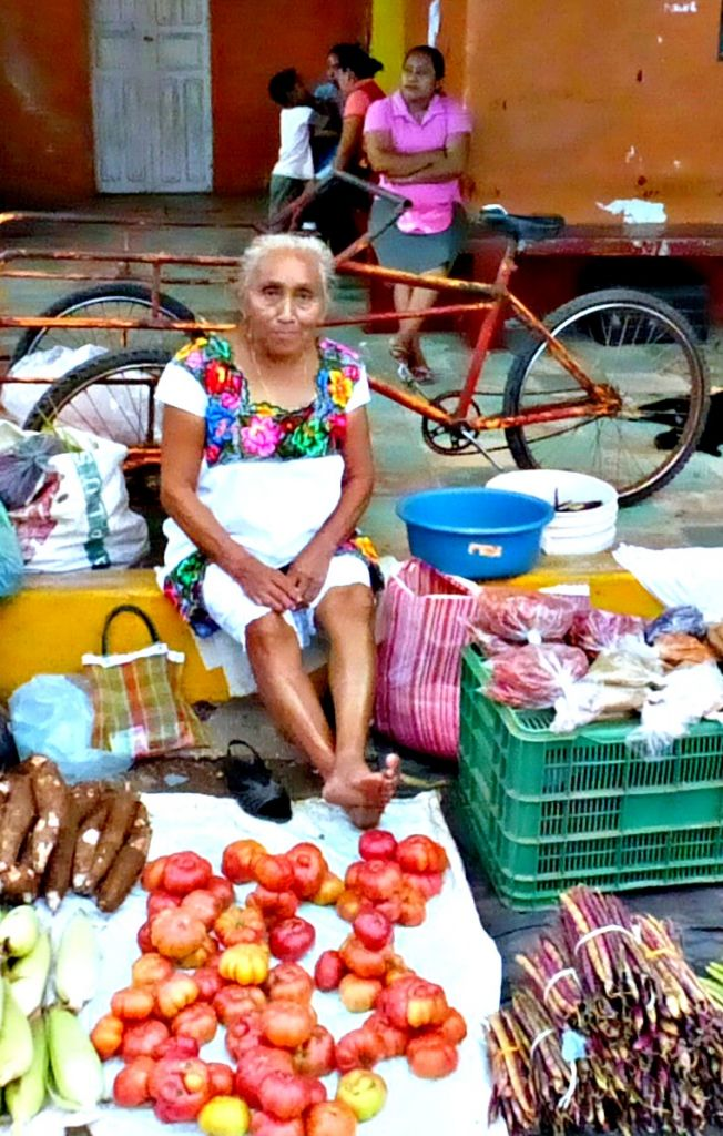 Mexican vegetable vendor