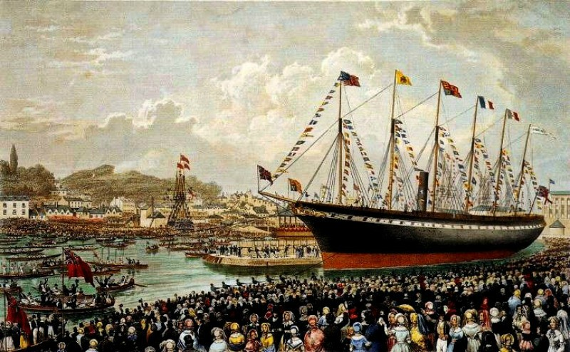 Launch of the SS Great Britain