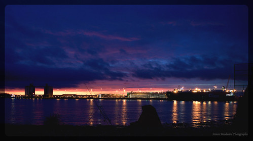 city uk sunset sky cloud sun water architecture reflections lights fishing nikon shadows outdoor ships hampshire silouette southampton