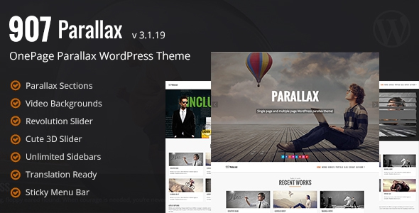 ThemeForest 907 v3.1.19 - Responsive WP One Page Parallax