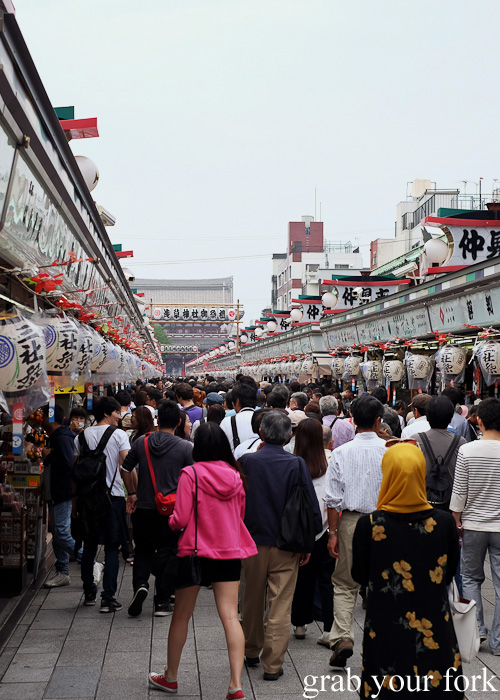 Crowds at Nakamise, Sensoji Temple, Asakusa, Tokyo