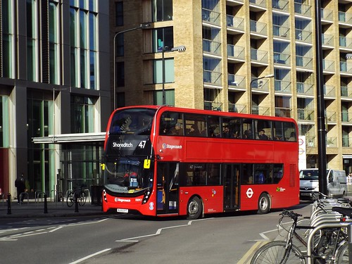 Stagecoach Selkent 13097, BL65OYT at Canada Water on route 47 to Shoreditch