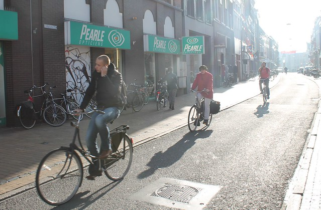 Cyclists Groningen Netherlands