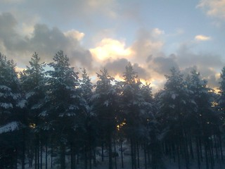 Epic winter clouds