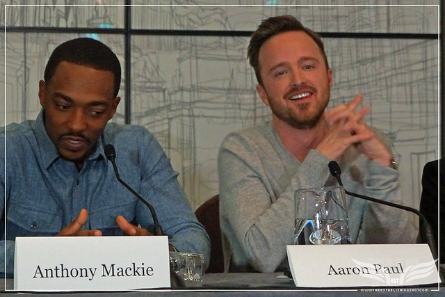 The Establishing Shot: TRIPLE 9 AARON PAUL DISCUSSES WHAT DREW HIM TO TRIPLE 9 AND PLAYING TROUBLED ROLES - CORINTHIA HOTEL LONDON