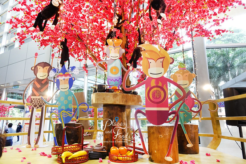 IPC CNY five monkey under tree