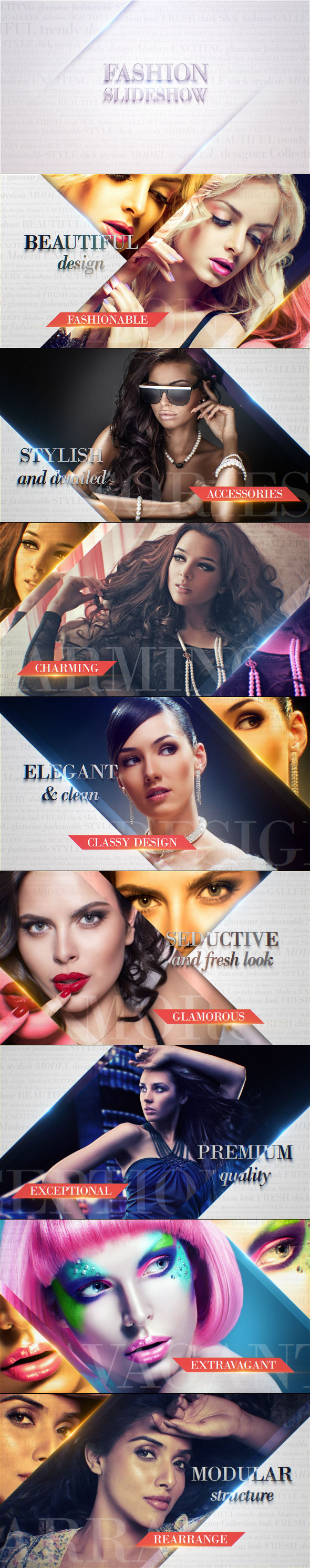 Fashion Slideshow After Effects Intro Template