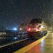The MARC commuter train rolls out of Frederick in a heavy snowfall  early his morning by quigley_brown (Jim Hamann)