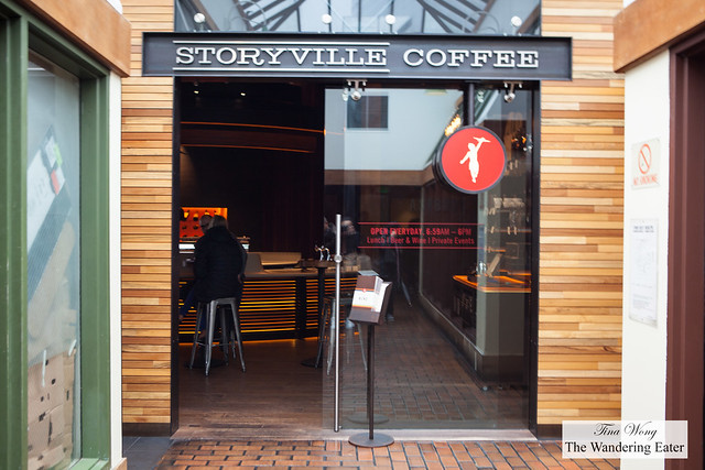Exterior of Storyville Coffee at Pike Place