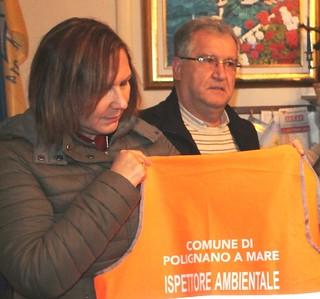 Il vicesindaco Mimmo Lomelo e la comandante Maria Centrone