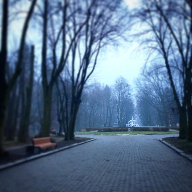 Весна 2016. #lviv #ukraine #park #nature #architecture #lemberg #lvivua #lviving #lvivingram #lvivblog #vsco #vscolviv #львів #львов #украина #україна #стрийськийпарк #парк #рассвет #sunrise #fog #blue #дерева #landscape #ukraine_blog #travel #travelukrai