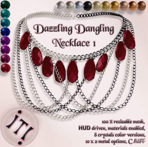 !IT! -  Dazzling Dangling Necklace 1 Image