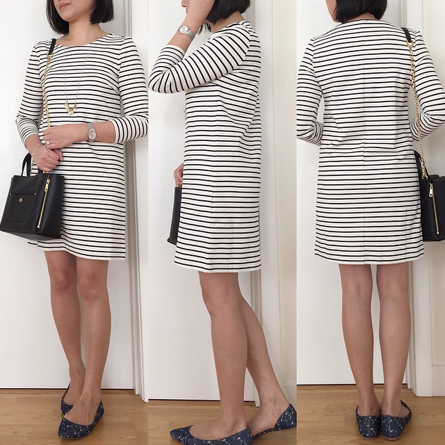 J.Crew Factory striped knit dress, size XXS regular