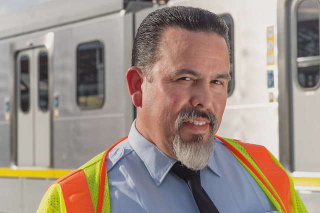 Gold Line train operator Mike Santillan
