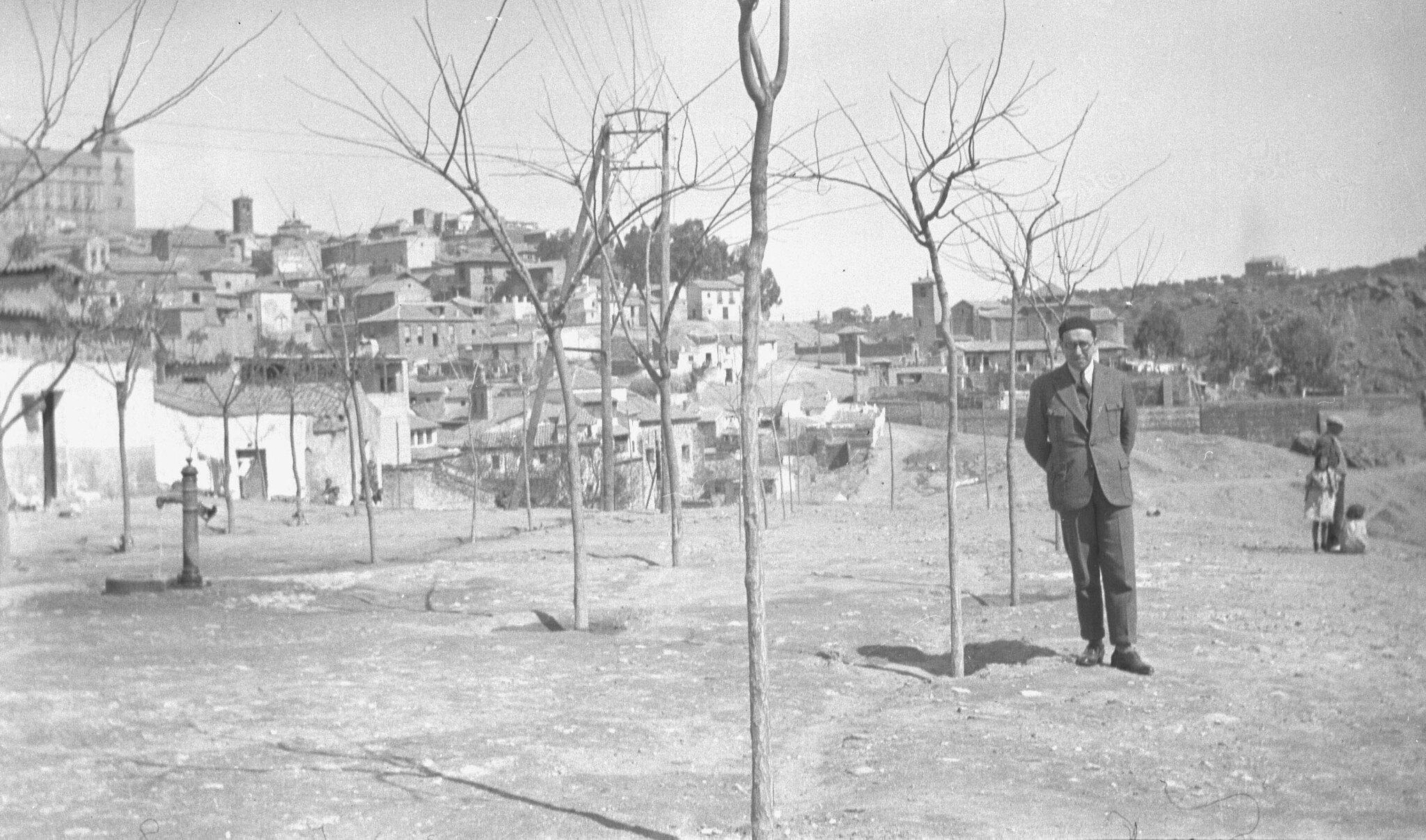 Giacomo Antonini en Toledo el 23 de marzo de 1935. Fotografía de Reijnier Flaes, (pseudónimo F.C. Terborgh). Cortesía de Jan Doets.