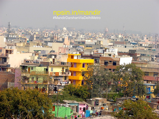 Top of the buildings, Gurudwara,Mosque and temples are clearly visible from top of the temple. Such clicked are not so frequently clicked.