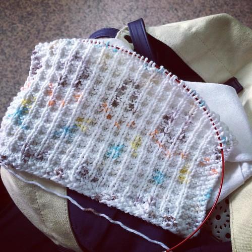 Waiting room washcloth #knitting
