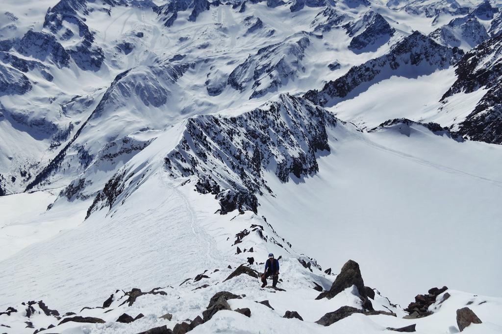 Ruderhofspitze NW (Franz Senn Hütte) Stubaiské Alpy Rakousko foto 13