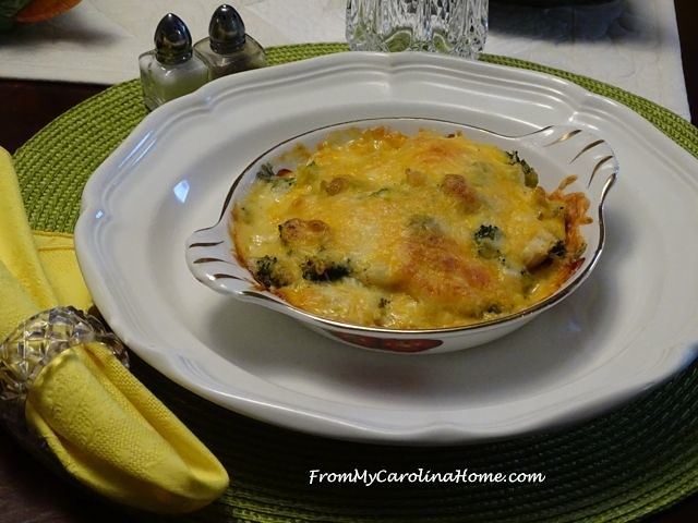 Chicken Broccoli Mornay ~ From My Carolina Home