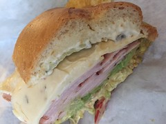 Genova's Deli pepper turkey avocado sandwich…
