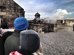 Firing of the one o'clock gun at Edinburgh castle