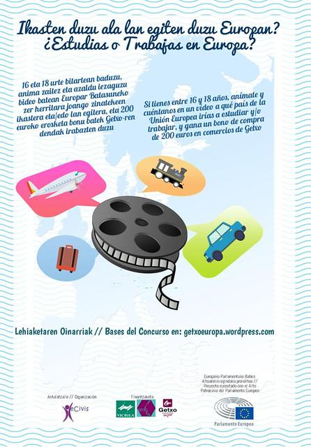Cartel-concurso #GetxoEuropa Día de Europa Getxo: Campaña crowdfunding