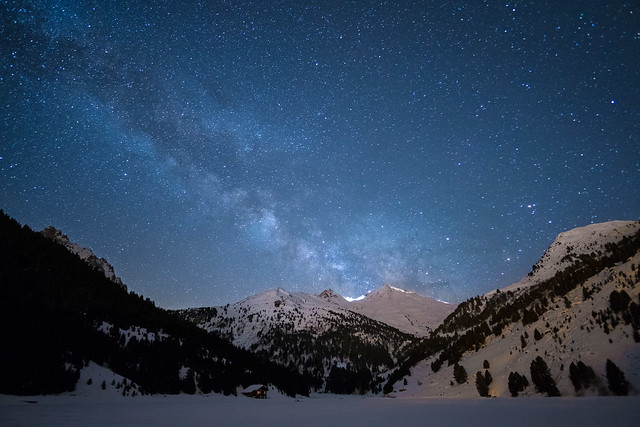 Milky Way Over Tueda Lake and Mount Vallon