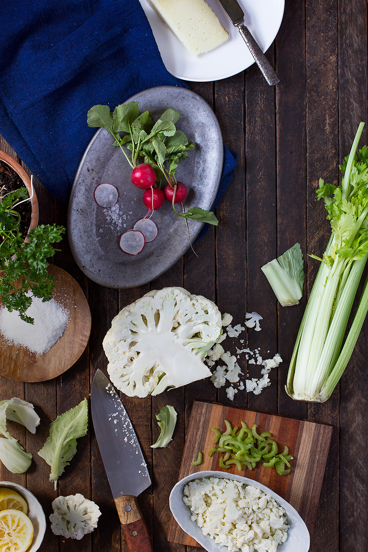 Shaved Cauliflower and Walnut Salad