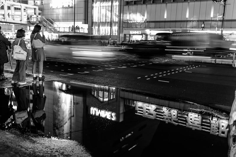 After rain,Shinjuku Station.