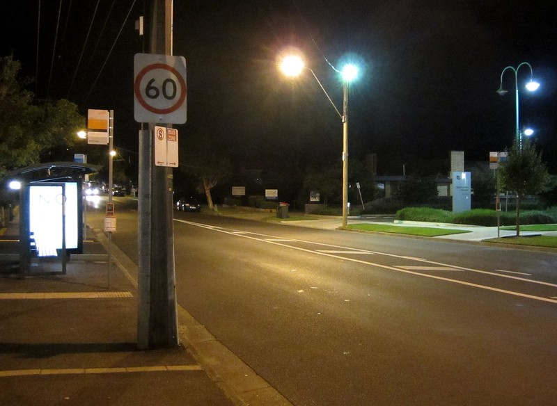 Jasper Road at night