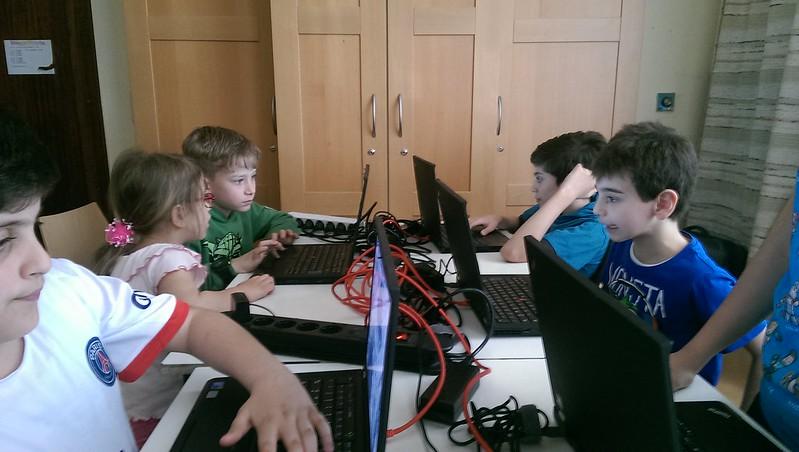 children playing 0.A.D.