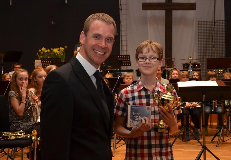 Gabriel Glänneskog - vinnare i solisttävlingen grupp 1