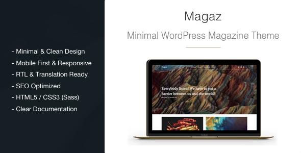 Magaz v1.0 - Magazine/News Minimal WordPress Theme