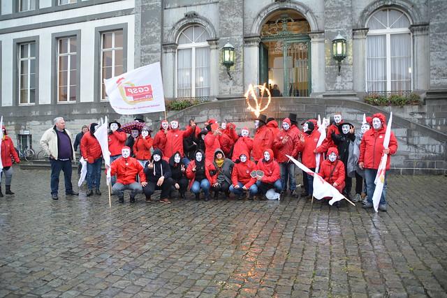 La CGSP-ADMI-OUEST s'est invitée au conseil communal de Tournai.