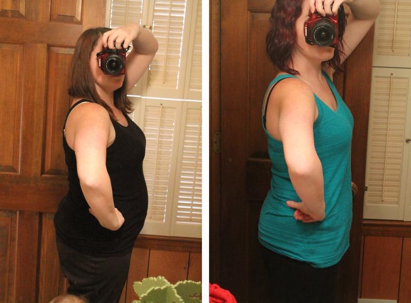 Weight loss, 1 year (36 lb.)