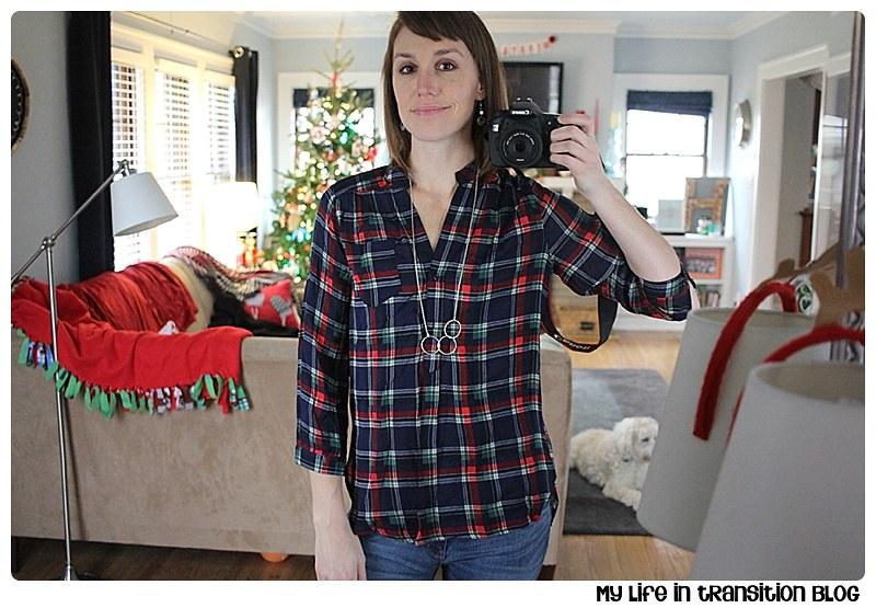 Market & Spruce Colibri Plaid Printed Tab-Sleeve Shirt: $48