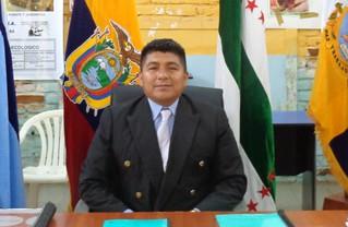 """SR. JUAN CARLOS QUINTERO HERNANDEZ PRESIDENTE DEL GAD PARROQUIAL """"SAN ANDRES"""" DE CANOA"""