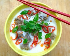 BEEF AND GLASS NOODLES IN COCONUT SOUP