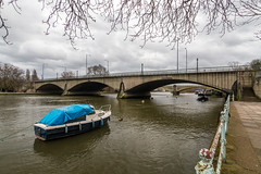 Twickenham Bridge with Richmond Railway bridge in the back ground