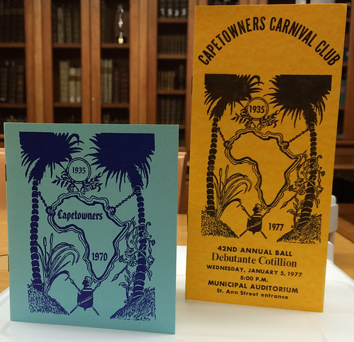1970, 1977 Capetowners Carnival Club ball programs