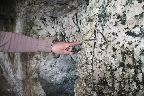 Segni ritrovati su alcune grotte circostanti ancora inesplorate di Santa Barbara