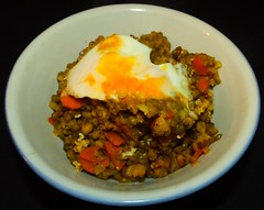 Mung Bean Curry with Poached Egg