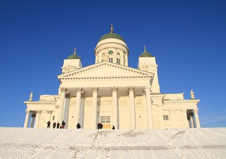 Billede af Helsinki Cathedral i nærheden af Helsinki. building church architecture worship cathedral religion dome christianity lutheran