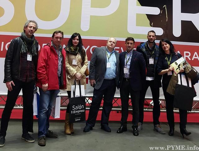 Emprendedores del Vivero de Empresas Génesis, en el Salón Mi Empresa 2016.